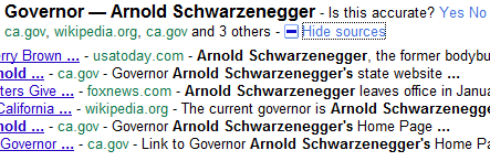 Google governor of California